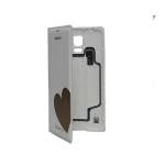 Чехол Samsung Flip Wallet for Galaxy S5 EF-WG900RFEG (White + Gold) (Chevron)
