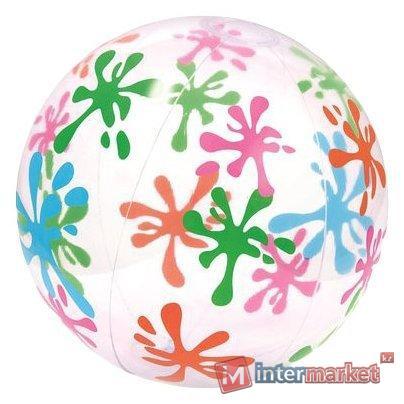 Пляжный надувной мяч Designer 61см, Bestway, 31001, Винил, Цвет в ассортименте, Пакет