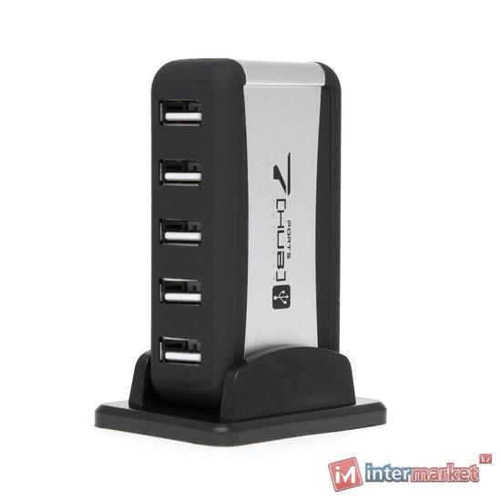 Расширитель USB, Deluxe, DUH7001BK, Чёрно-Серый