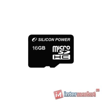 Карты памяти Silicon Power microSDHC Class10 Retail, 16 Gb